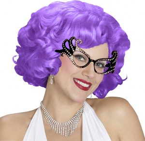 60s Black Flick-Up Wig 1960's Mod Go Go Short Retro 70s Hairspray Costume - image Aussie-Dame-Wig-Purple-Edna-Style-300x292 on https://www.abracadabrafancydress.com.au