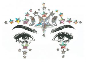 Body Bands Tattoos - Chained Love - image Face-Jewels-Celestial-300x221 on https://www.abracadabrafancydress.com.au