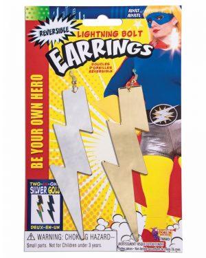 Large Links Chunky Gold Bracelet Pimp Gangster Hip Hop Mr. T Costume Jewellery - image Lightning-Bolt-Hero-Earrings-300x375 on https://www.abracadabrafancydress.com.au