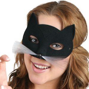 Sinclair Gold Steampunk Eye Mask - image TABBY-CAT-Black-Eye-Mask-300x300 on https://www.abracadabrafancydress.com.au