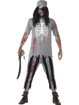 Zombie Cowboy Costume Adult Halloween - image Zombie-Pirate-Costume-300x400 on https://www.abracadabrafancydress.com.au