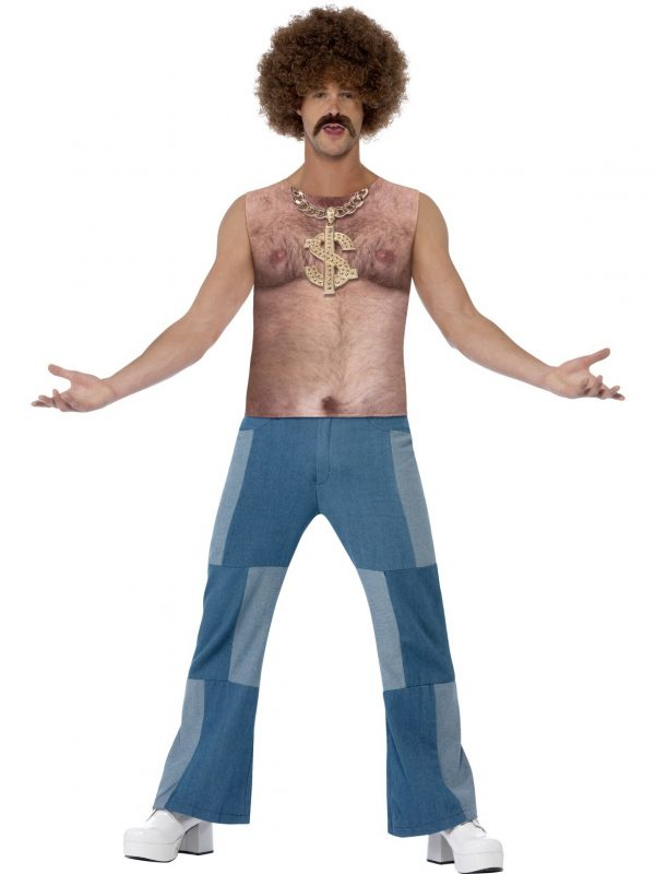 70's Novelty Realistic Hairy Chest T-Shirt Fancy Dress 1970s Costume Disco Bling - image Realistic-70s-Hairy-Chest-600x800 on https://www.abracadabrafancydress.com.au