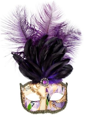 ALLEGRA Gold & Purple with Feathers Eye Mask - image ALLEGRA-Gold-Purple-with-Feathers-Eye-Mask-300x400 on https://www.abracadabrafancydress.com.au