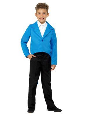 Child Blue Tailcoat Prince Ringmaster Magician Tails Jacket Dress Up Costume - image Blue-Tailcoat-300x400 on https://www.abracadabrafancydress.com.au