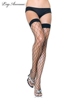 80's Lace Footless Tights Leggings Black - image Fence-Net-Thigh-High-Black-300x400 on https://www.abracadabrafancydress.com.au