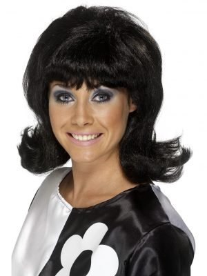 60s Black Flick-Up Wig 1960's Mod Go Go Short Retro 70s Hairspray Costume - image Black-60s-Flick-Up-Wig-300x400 on https://www.abracadabrafancydress.com.au