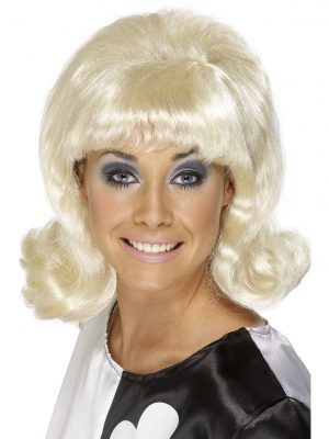60s Black Flick-Up Wig 1960's Mod Go Go Short Retro 70s Hairspray Costume - image Blonde-60s-Flick-Up-Wig-300x400 on https://www.abracadabrafancydress.com.au