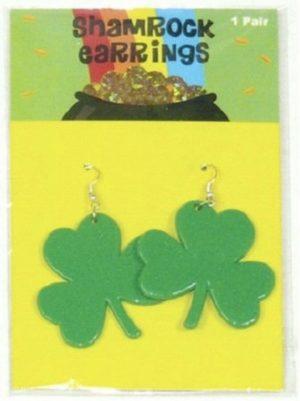 Rainbow Peace Earrings - image Shamrock-Pierced-Earrings-Irish-St-Patrick-Clover-Costume-Jewellery-Dress-Up-300x401 on https://www.abracadabrafancydress.com.au