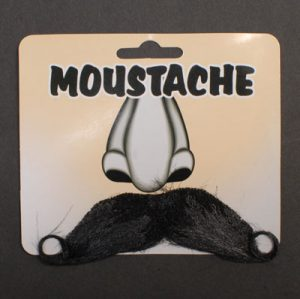 Beard and Moustache Grey - image B0008BLK-BLACK-MOUSTACHE-300x299 on https://www.abracadabrafancydress.com.au