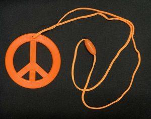 Necklace Chunky Gold Chain - image Orange-Hippie-Peace-Sign-Pendant-300x236 on https://www.abracadabrafancydress.com.au