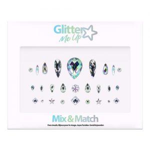 Diamante Rhinestone Face Jewels Glitter Stickers - Assorted Colour Face Jewels - image FJGPK115-300x300 on https://www.abracadabrafancydress.com.au