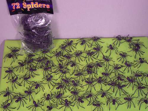 Fake Spiders Creepy Crawly Plastic pk 72 Halloween Scary Props Accessory - image NS72 on https://www.abracadabrafancydress.com.au