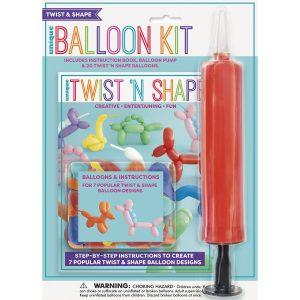 260Q Animal Sculpting Modelling Balloon Kit Pack Pump Book 20 Balloons